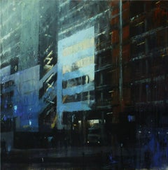 Transient Complexity -contemporary cityscape architecture painting oil on canvas