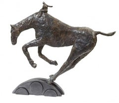 Per Ardua - contemporary animal horse bronze sculpture