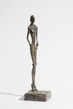 September -contemporary figurative bronze sculpture