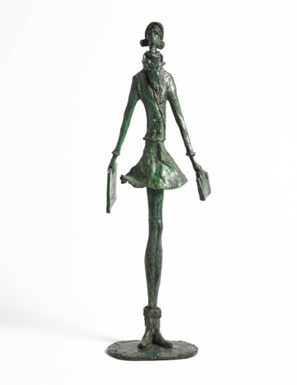 Great Expectations - contemporary figurative female fashion bronze sculpture