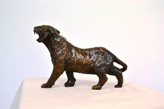Tiger Tiger -contemporary figurative tiger bronze sculpture