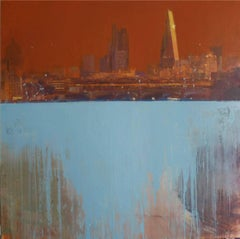 The City from Waterloo - contemporary cityscape architecture painting oil