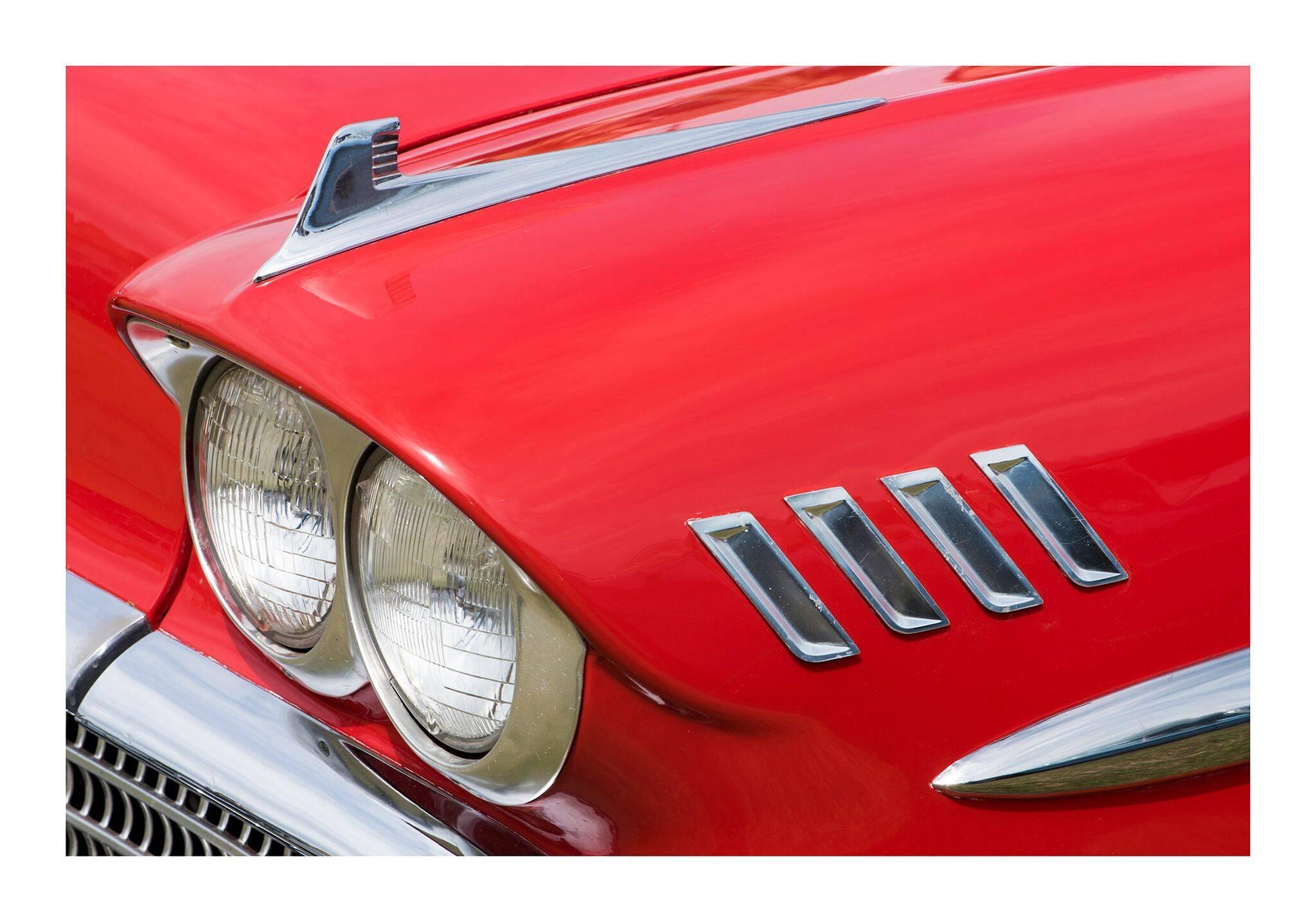 1958 Chevrolet Impala, 2015 - contemporary red car lambda print