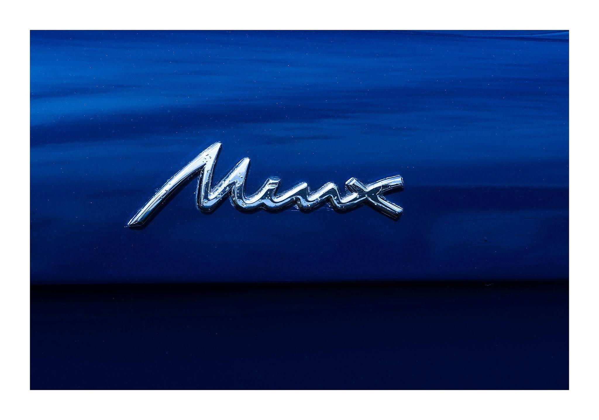 1960 Hillman Minx Series III Convertible - contemporary blue car lambda print