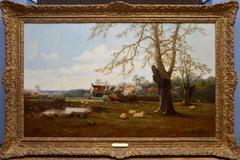 Berkshire Homestead - 19th Century English Landscape Oil Painting - de Breanski