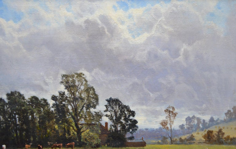 In the Valley of the Taw, Devon - 19th Century English Landscape Oil Painting For Sale 2