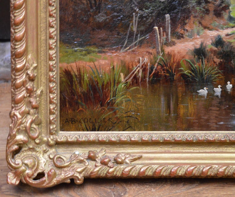 In the Valley of the Taw, Devon - 19th Century English Landscape Oil Painting For Sale 6