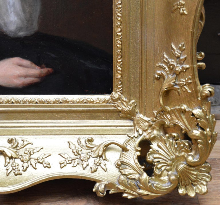 The Black Mantilla - 19th Century Victorian Oil Painting Portrait Spanish Beauty For Sale 6