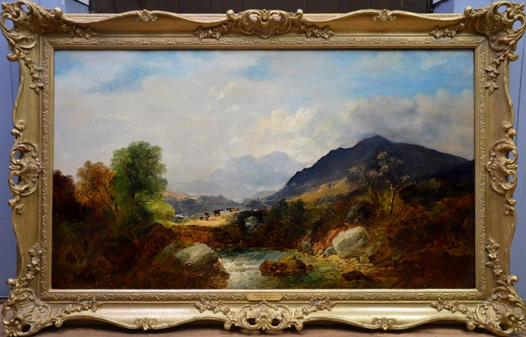 Joseph Horlor Landscape Painting - Snowdon, North Wales - Very Large 19th Century Oil Painting - Mount Snowdon