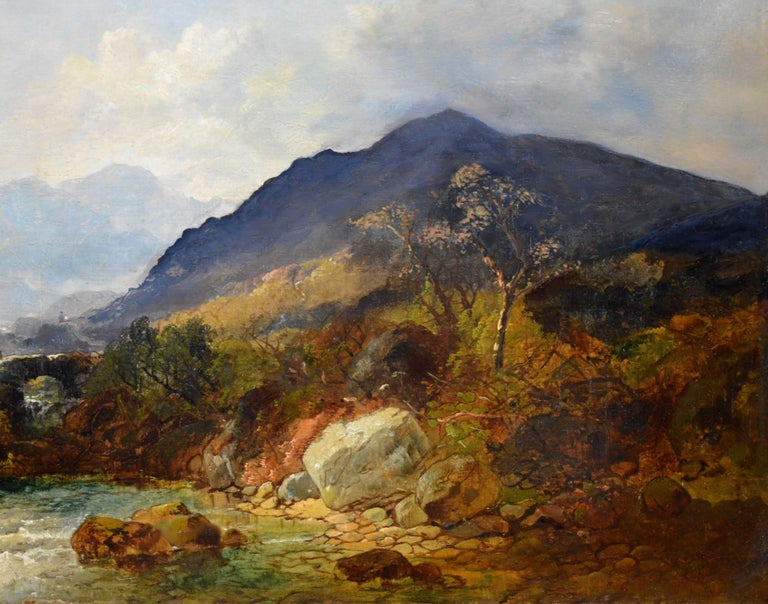 Snowdon, North Wales - Very Large 19th Century Oil Painting - Mount Snowdon For Sale 2