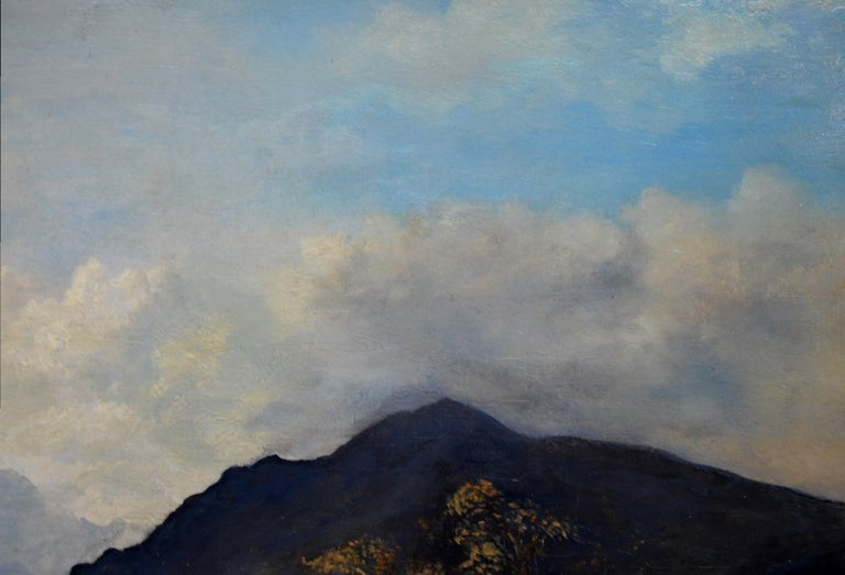 Snowdon, North Wales - Very Large 19th Century Oil Painting - Mount Snowdon For Sale 4
