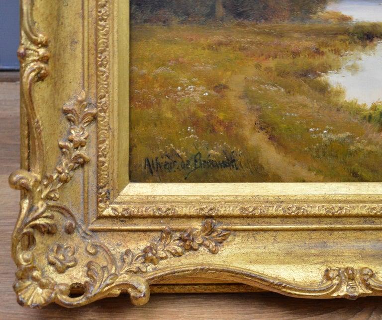 Windsor Castle from the Thames - 19th Century Victorian River Landscape Breanski For Sale 4
