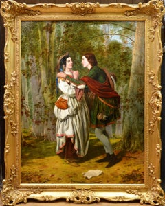 Rosalind & Celia, As You Like It - 19thC Oil Painting Shakespeare Royal Academy