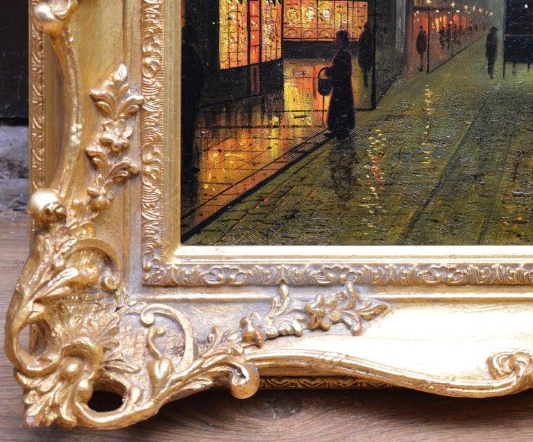 Glasgow Docks - Moonlight Nocturne Landscape - Pupil of Atkinson Grimshaw For Sale 5