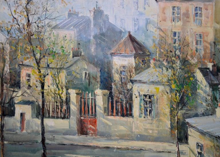 Rue Lepic, Montmartre - French Post Impressionist Oil Painting Paris Landscape For Sale 1