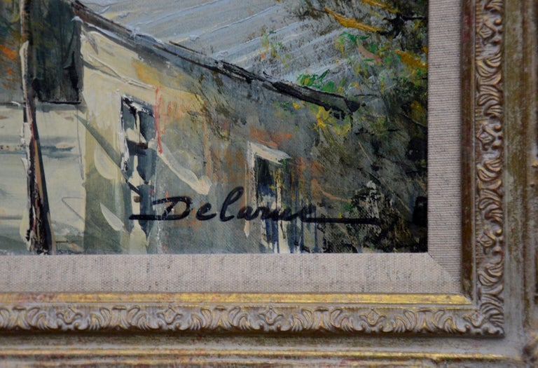 Rue Lepic, Montmartre - French Post Impressionist Oil Painting Paris Landscape For Sale 2