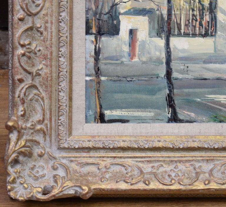 Rue Lepic, Montmartre - French Post Impressionist Oil Painting Paris Landscape For Sale 4