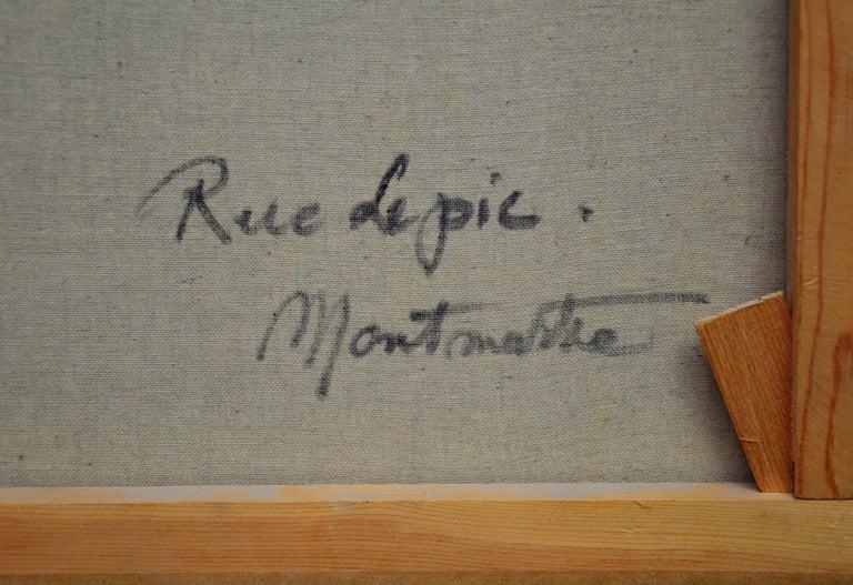 Rue Lepic, Montmartre - French Post Impressionist Oil Painting Paris Landscape For Sale 6