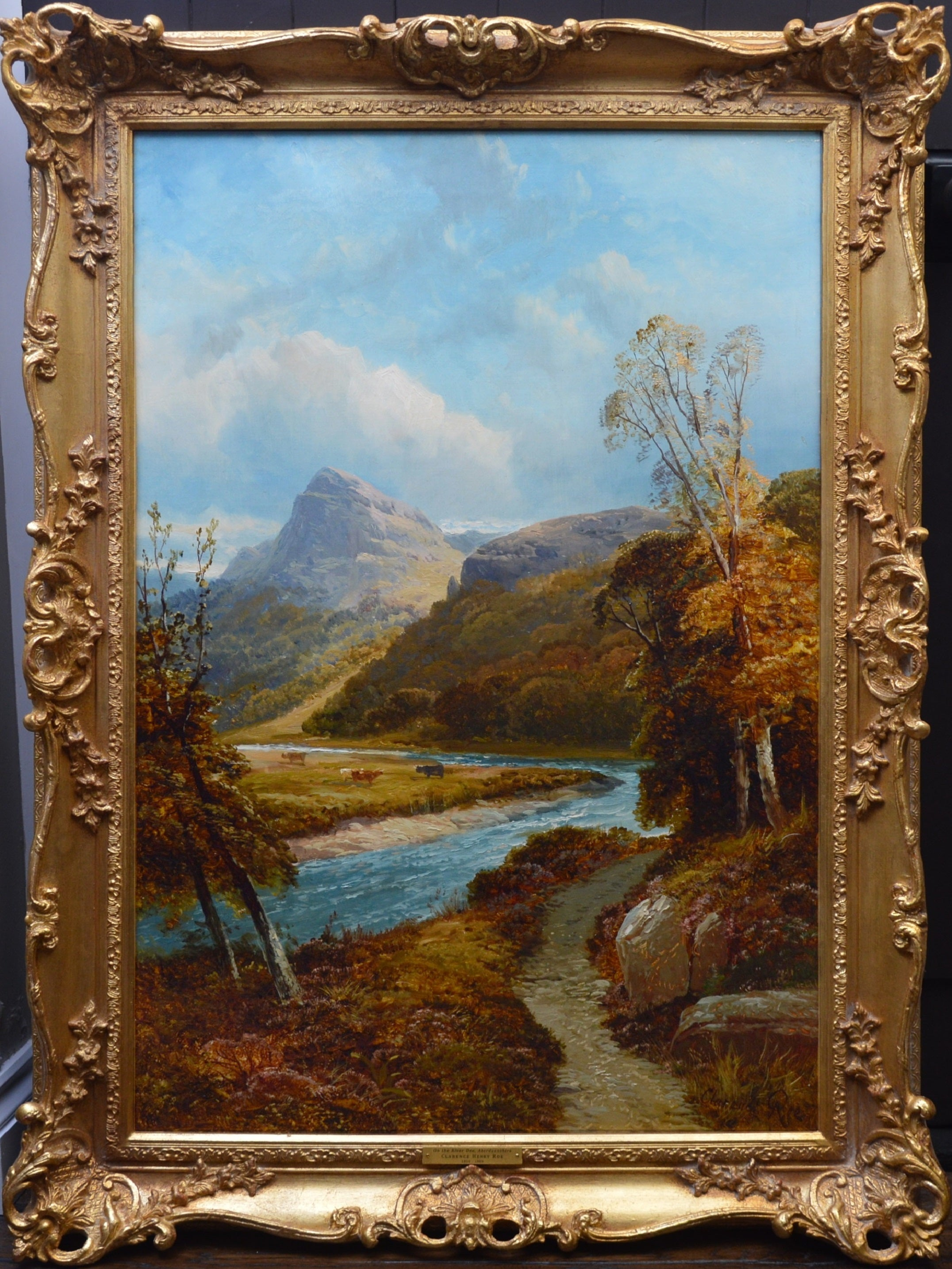 On the River Dee - Large 19th Century Scottish Landscape Oil Painting