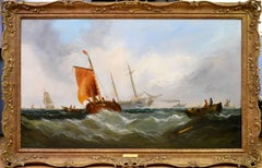 On the Medway - Exhibited at the Royal Academy in 1864
