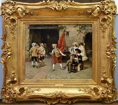 Il Cavaliere - 19th Century Italian Oil Painting - Cavaliers