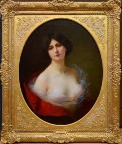 A Young Beauty - 19th Century French Oil Painting circa 1885 - Nude