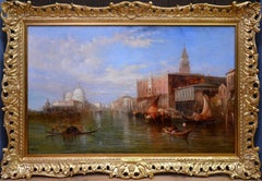 The Grand Canal - Venice - 19th Century Oil Painting - Alfred Pollentine