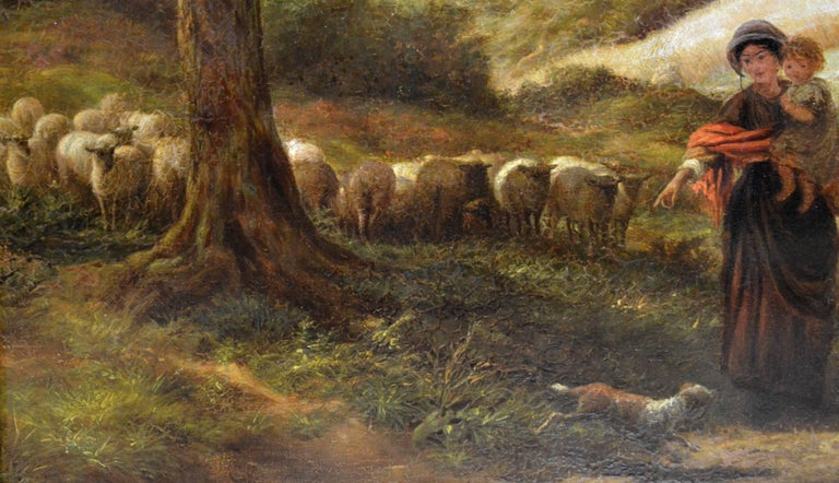 Reaping - Very Large 19th Century Oil Painting - Royal Academy 1870 - Linnell For Sale 2