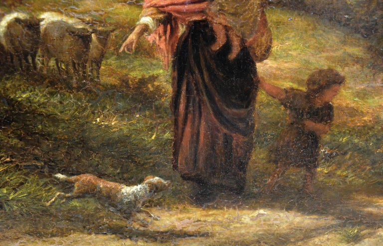 Reaping - Very Large 19th Century Oil Painting - Royal Academy 1870 - Linnell For Sale 4