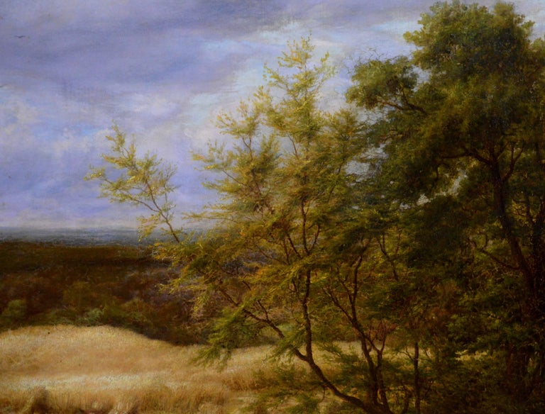 Reaping - Very Large 19th Century Oil Painting - Royal Academy 1870 - Linnell For Sale 5