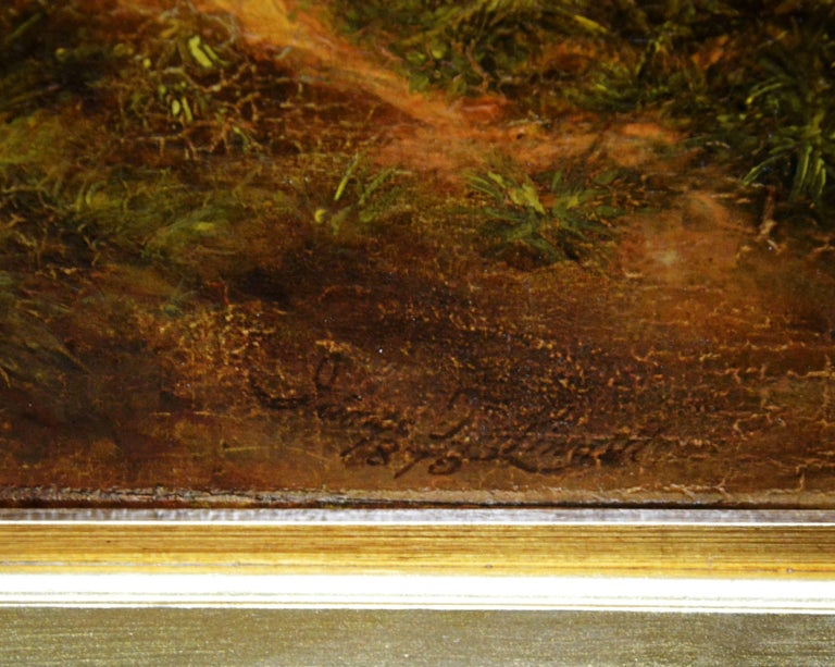 Reaping - Very Large 19th Century Oil Painting - Royal Academy 1870 - Linnell For Sale 6