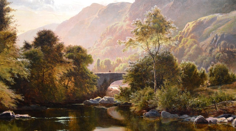 Betws-y-Coed, North Wales - 19th Century Oil Painting - Sidney Richard Percy For Sale 5
