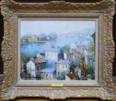 La Seine a Herblay - French Post Impressionist Oil Painting Paris Landscape