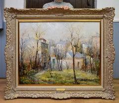 Jardin de Montmartre - French Post Impressionist Landscape Old Montmartre Paris