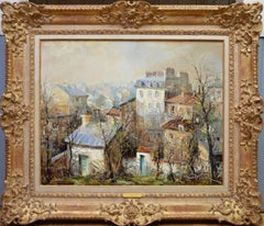Soleil tot le Matin, Montmartre - French Post Impressionist Oil Painting Paris