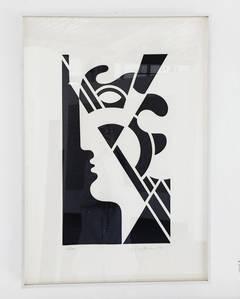 Roy Lichtenstein - Modern Head #5, from Modern Head Series