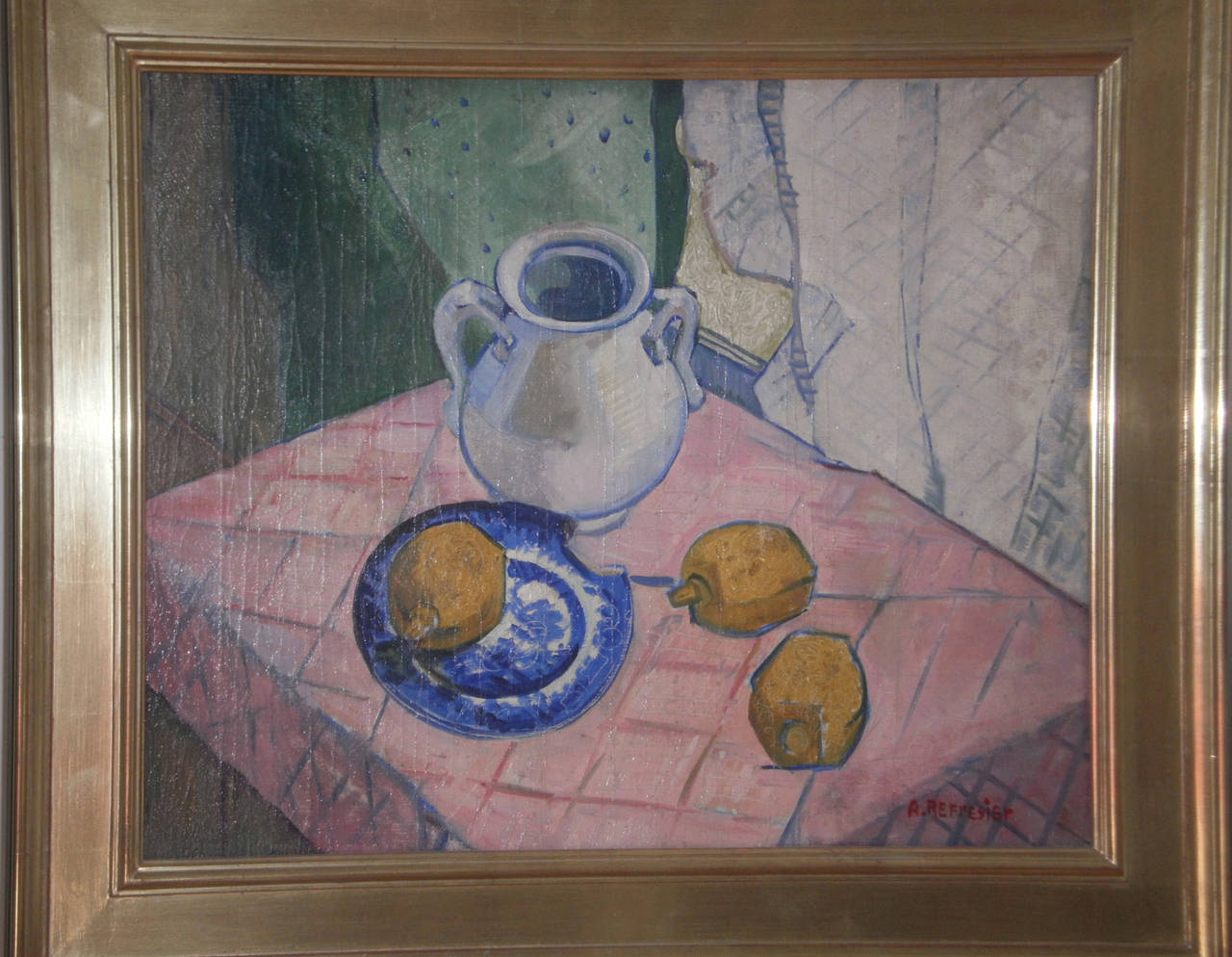 Anton refregier still life with lemons painting at 1stdibs for Hendrickson s fine jewelry