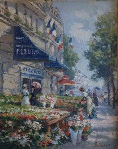 Paris, marché aux fleurs