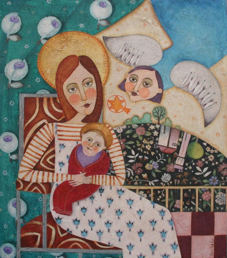 Raquel Fariñas Figurative Painting - Navidad