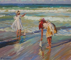 The Tide, oil on canvas by Yuri Krotov