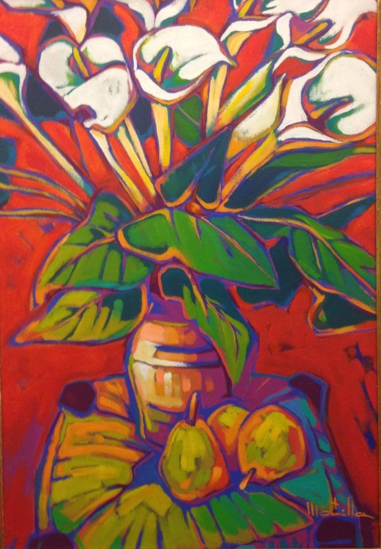 "Chico Montilla Figurative Painting - ""Three pears"""