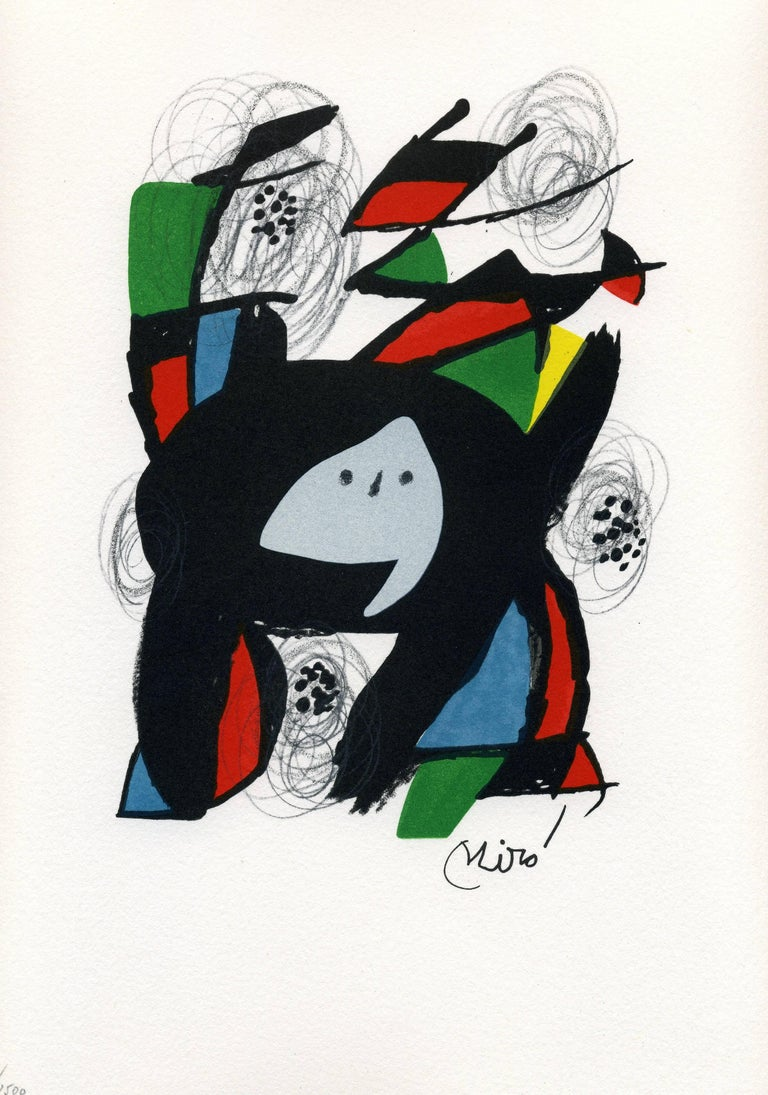 Joan Miró Abstract Print - La Mélodie acide, model 8
