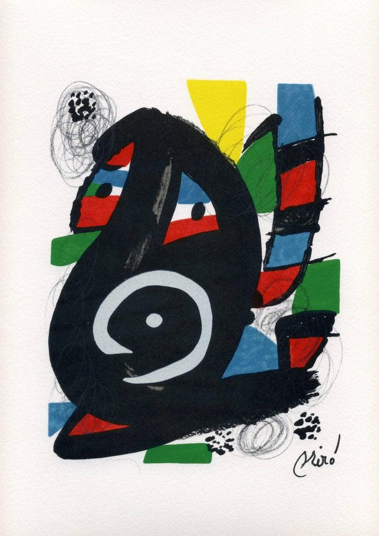 Joan Miró Abstract Print - La Mélodie acide, model 14