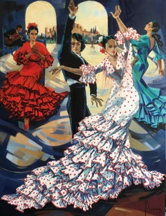 Bulerias, flamenco dance, oil on canvas