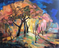 Enchanted forest, oil French expressionist  landscape