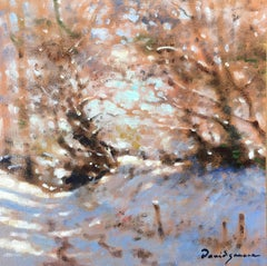 Undergrowth in winter, little oil on canvas, impressionist style