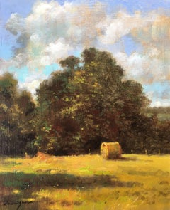 """""""The wheat bale"""", little oil on canvas post-impressionist style"""