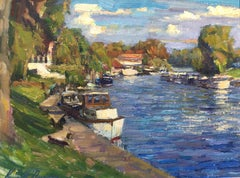 """""""Boats by the river"""""""