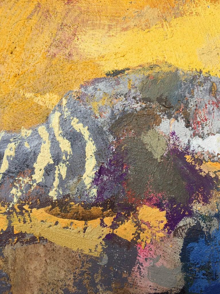 Surcos amarillos - Painting by Goyo Dominguez