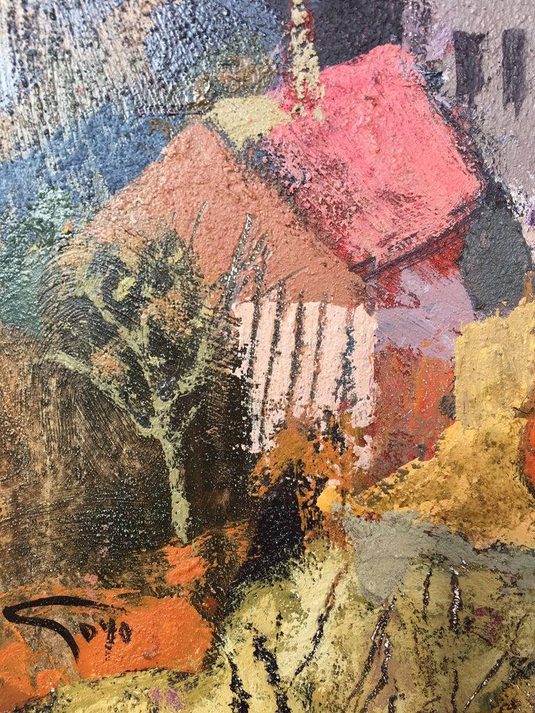 Surcos amarillos - Contemporary Painting by Goyo Dominguez